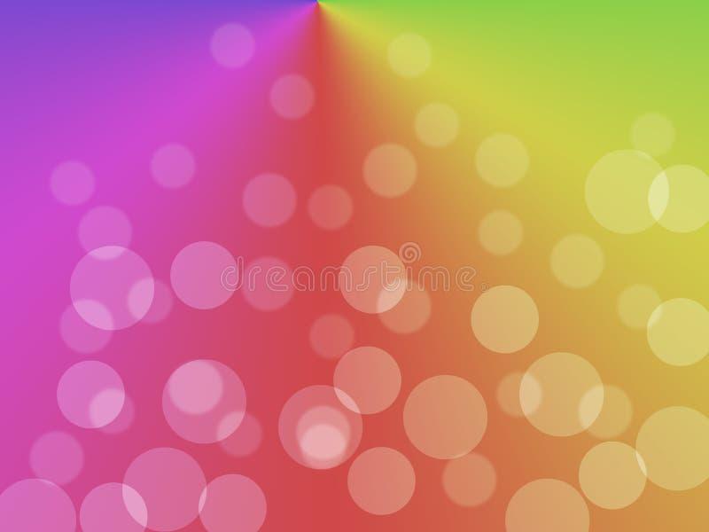 背景被弄脏的五颜六色 抽象梯度桌面墙纸 库存例证