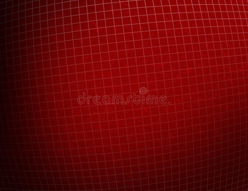 背景被构造的网格红色 皇族释放例证
