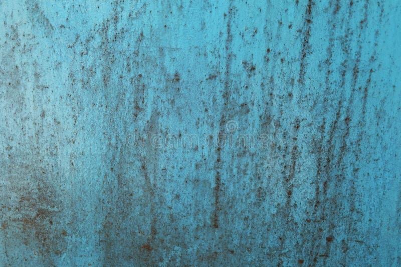 背景被构造老生锈的蓝色难看的东西金属 库存图片