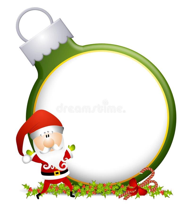 背景装饰品圣诞老人 皇族释放例证