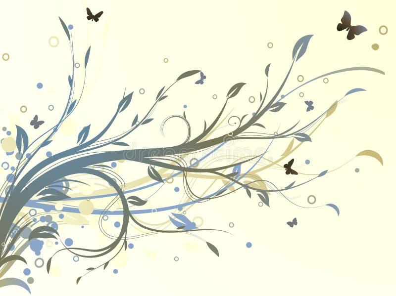 背景装饰花卉 库存例证