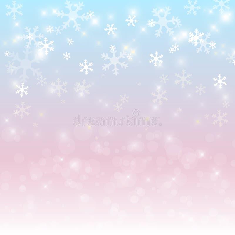 背景装饰设计图象例证雪花向量 向量例证