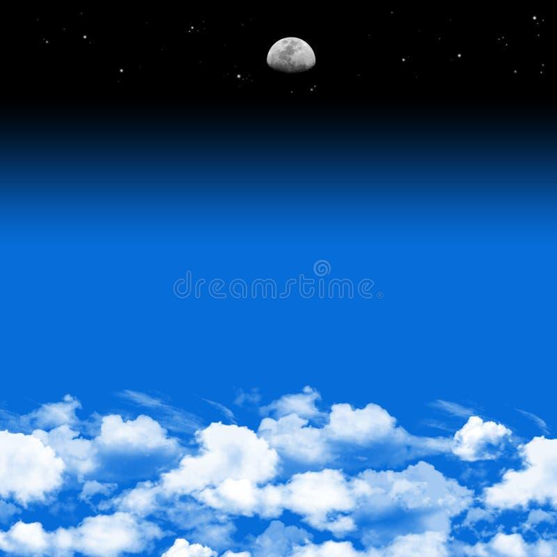 背景覆盖月亮 库存照片