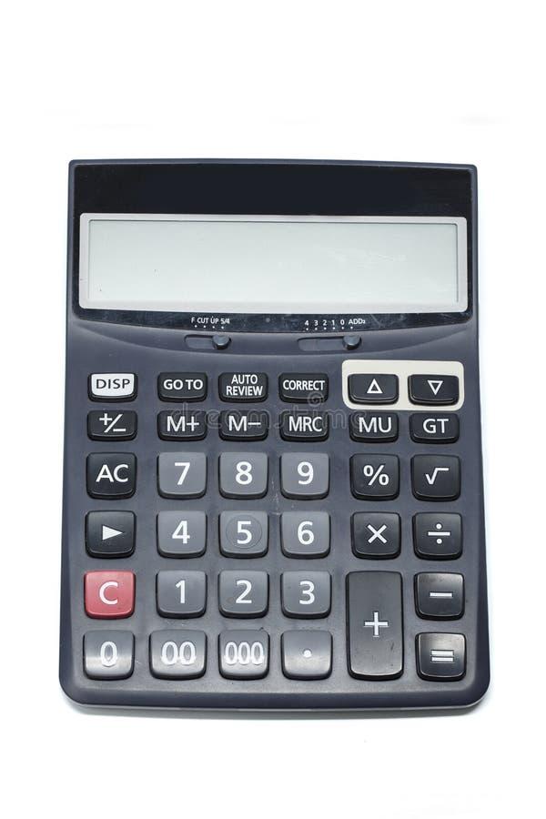 背景计算器查出的白色 免版税库存照片
