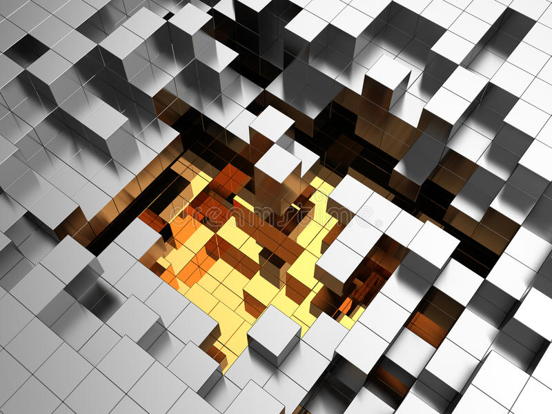 背景计算机多维数据集生成了图象 库存例证