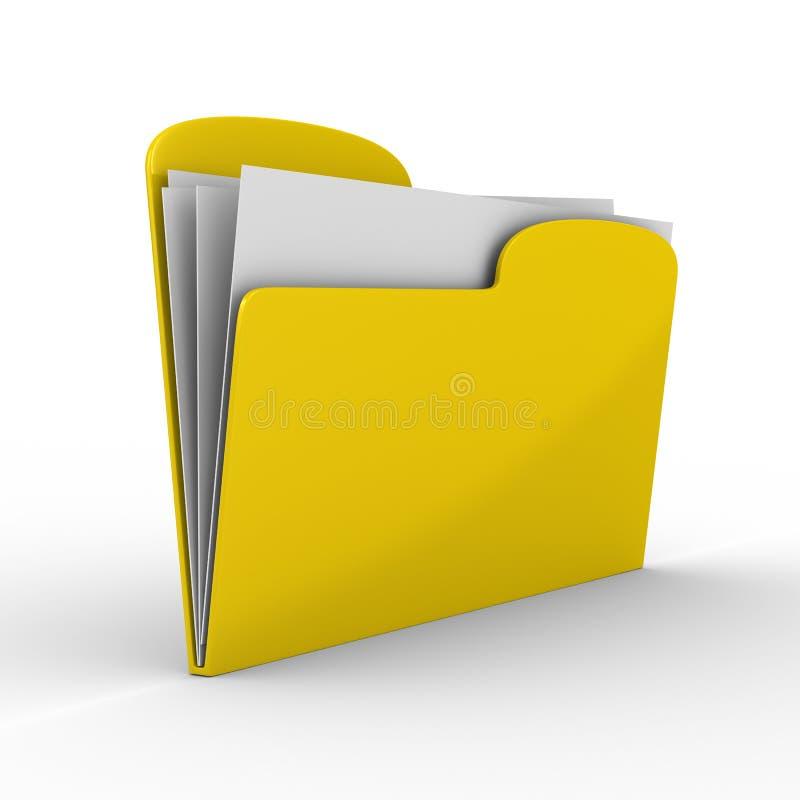 背景计算机文件夹空白黄色 向量例证