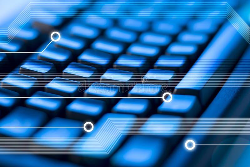 背景计算机键盘技术 库存图片