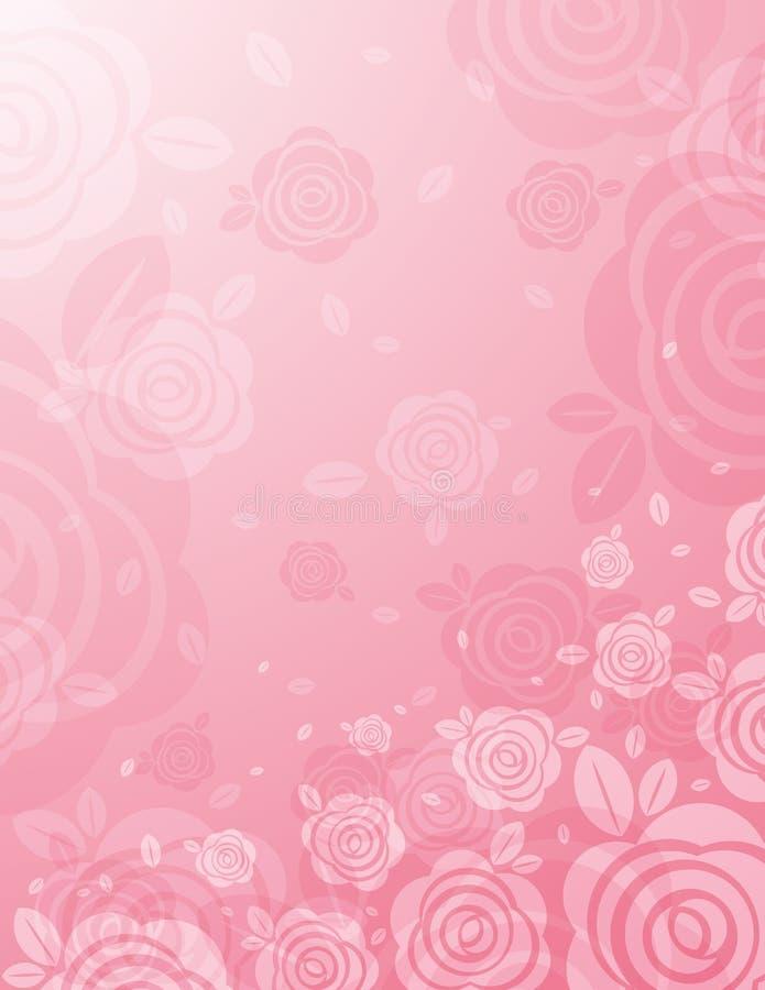背景许多桃红色玫瑰向量 向量例证