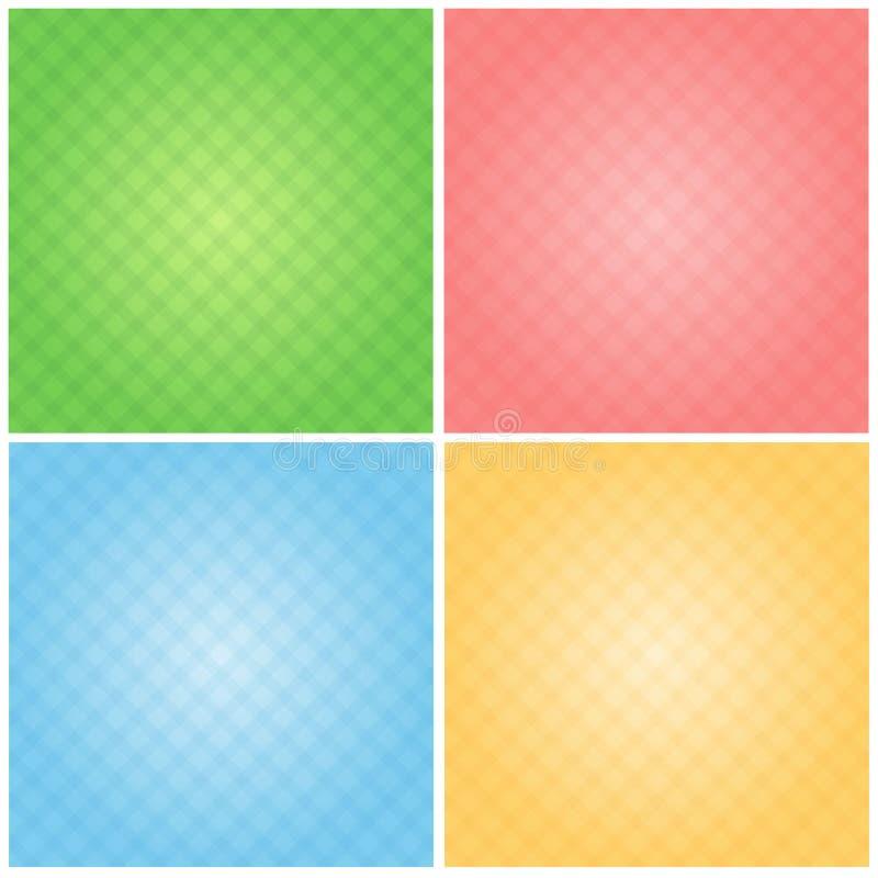 背景设置了明亮4颜色桃红色天空蔚蓝绿色黄色 皇族释放例证