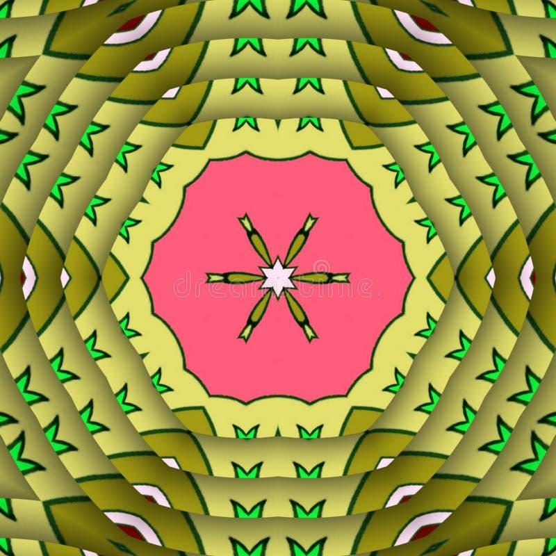 背景设计摘要和数字艺术叶子 皇族释放例证