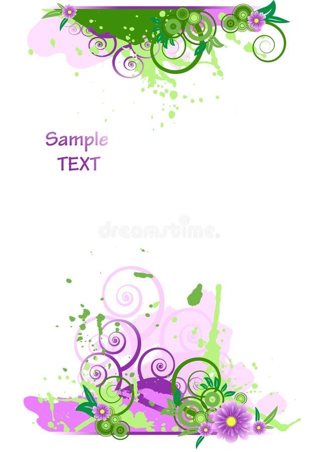 背景设计要素花卉grunge vect 向量例证