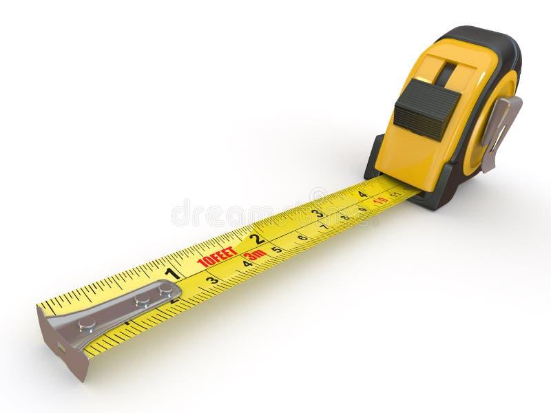 背景评定空白磁带的工具 库存例证