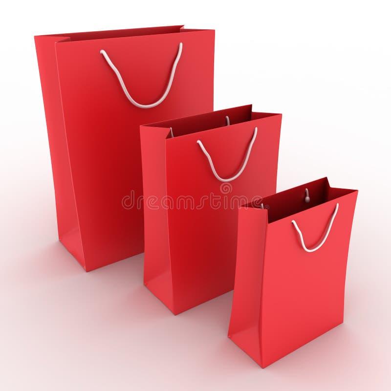 背景请求红色购物三白色 库存例证