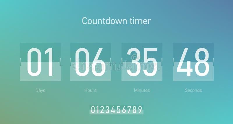 背景读秒设计例证定时器白色 皇族释放例证