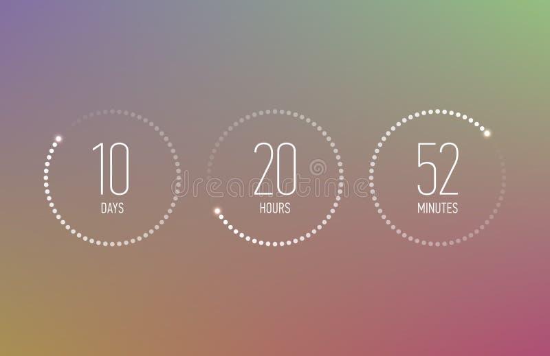 背景读秒设计例证定时器白色 库存例证