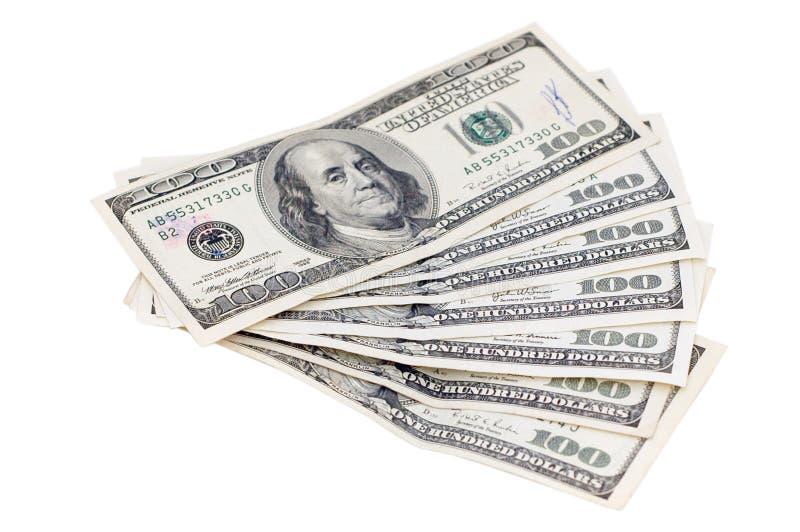 背景货币白色 库存图片