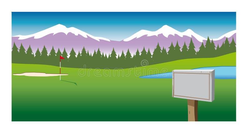 背景路线高尔夫球 皇族释放例证