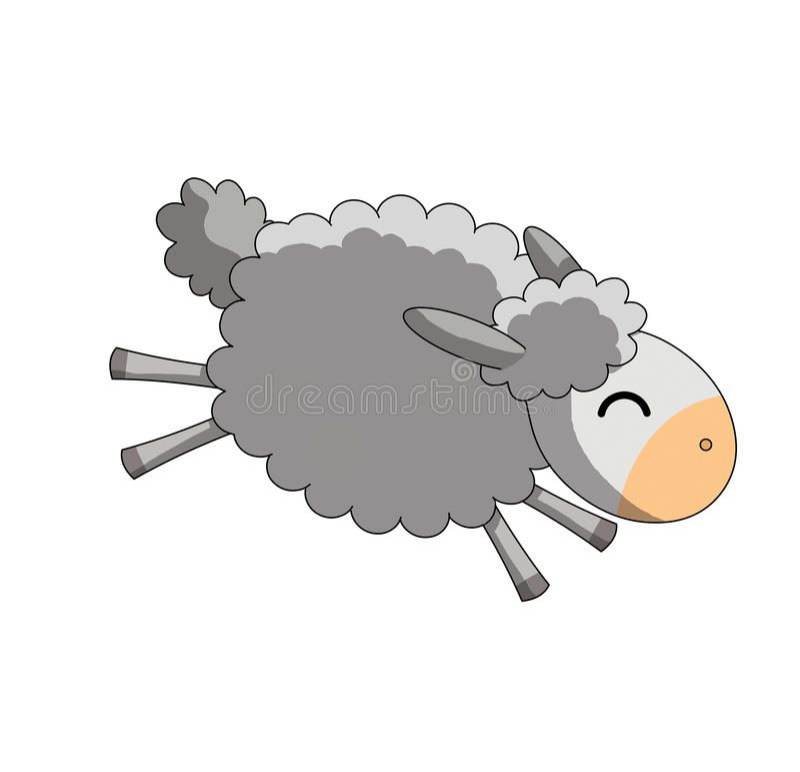 背景跳的绵羊白色 免版税库存照片