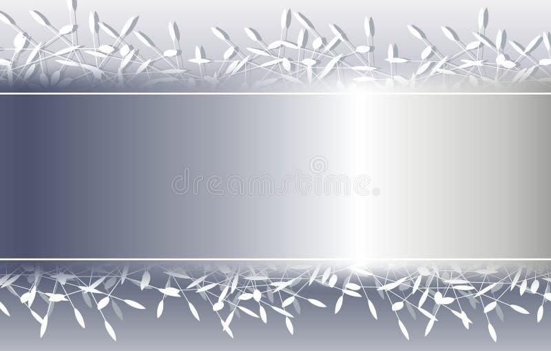 背景边界圣诞节装饰银 库存例证