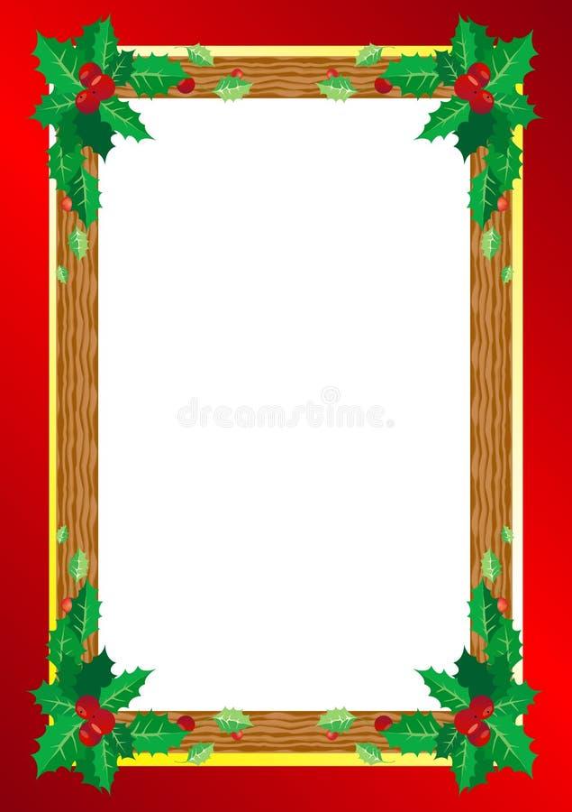 背景边界把空白圣诞节礼品金黄查出的丝带装箱 库存例证