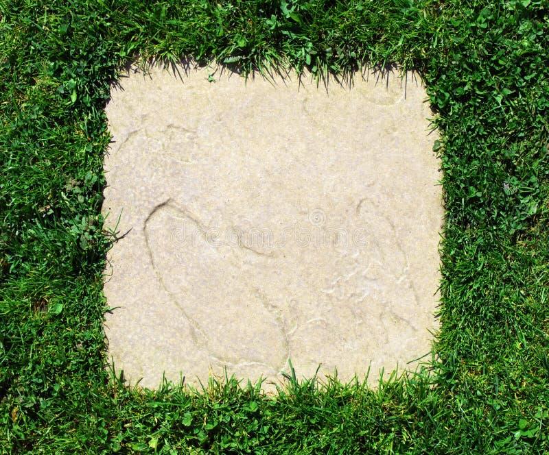 背景边界草平板石头纹理 图库摄影