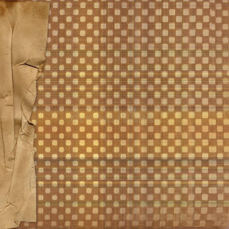 背景边界设计grunge纸张 库存例证