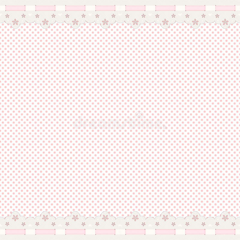 背景边界鞋带粉红色 向量例证
