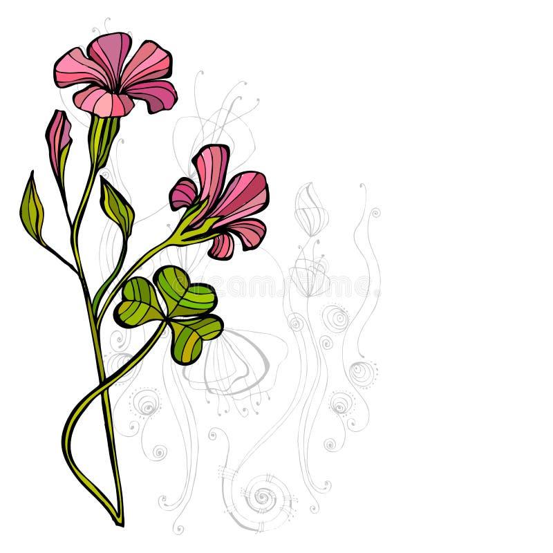 背景逗人喜爱的花卉春天 向量例证