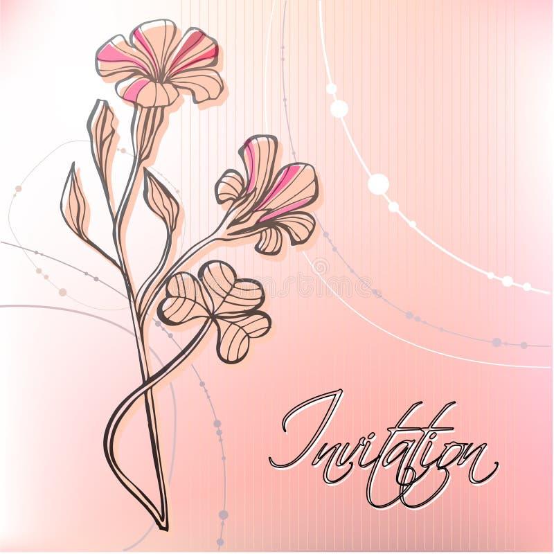 背景逗人喜爱的花卉春天 皇族释放例证