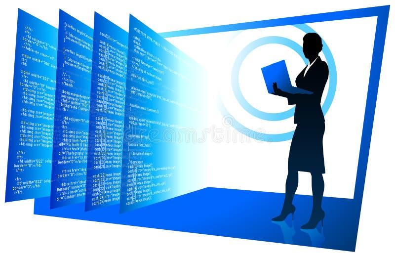 背景通信开发员性感的万维网 库存例证