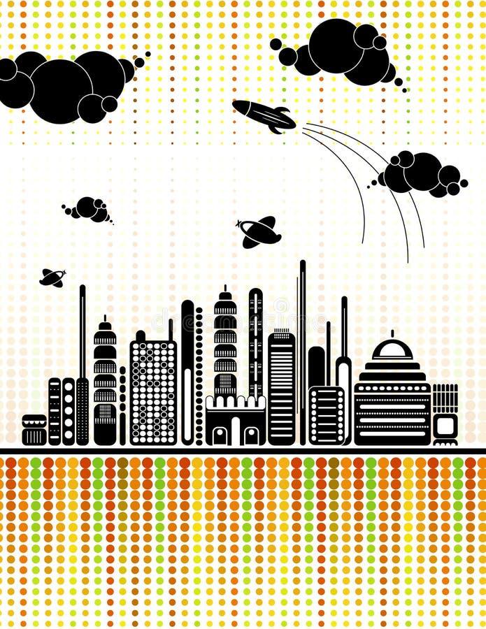 背景都市向量 库存例证