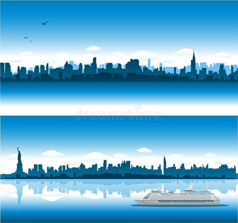 背景都市风景纽约 皇族释放例证
