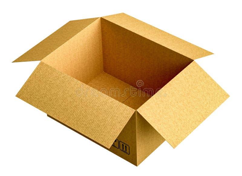 背景配件箱纸板查出的白色 库存例证