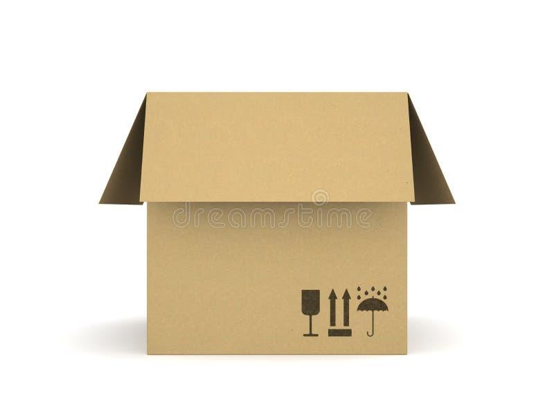 背景配件箱纸板查出的白色 向量例证
