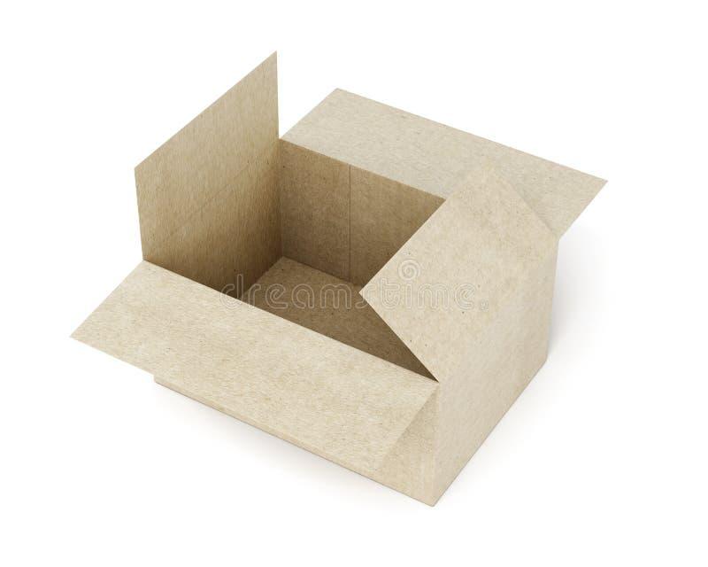 背景配件箱纸盒礼品保护的白色 3d翻译 库存例证