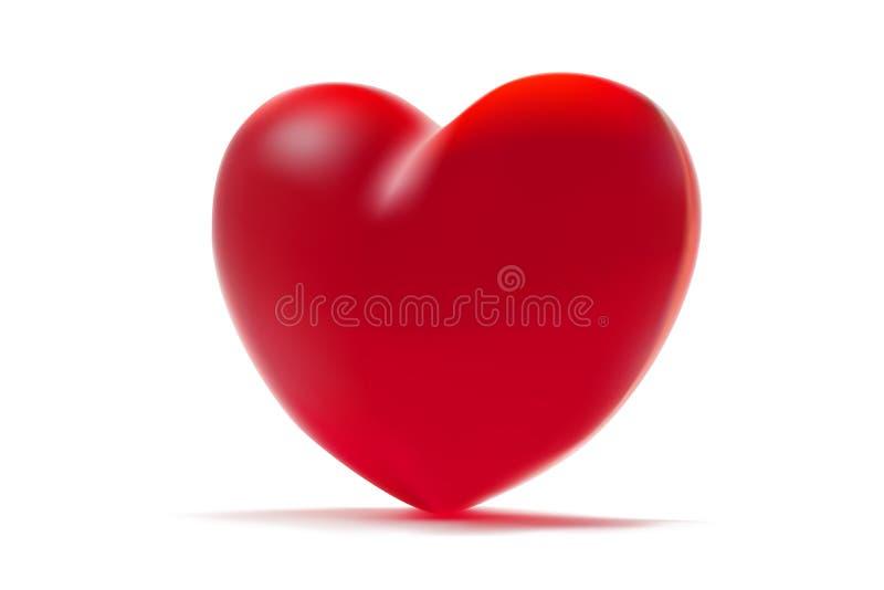 背景重点查出的红色白色 St华伦泰的标志 3d与红色华伦泰心脏的现实例证 皇族释放例证