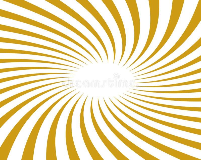 背景金光芒旋转了向量 向量例证