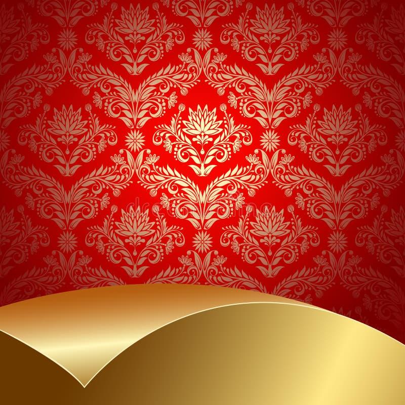 背景金子红色 皇族释放例证