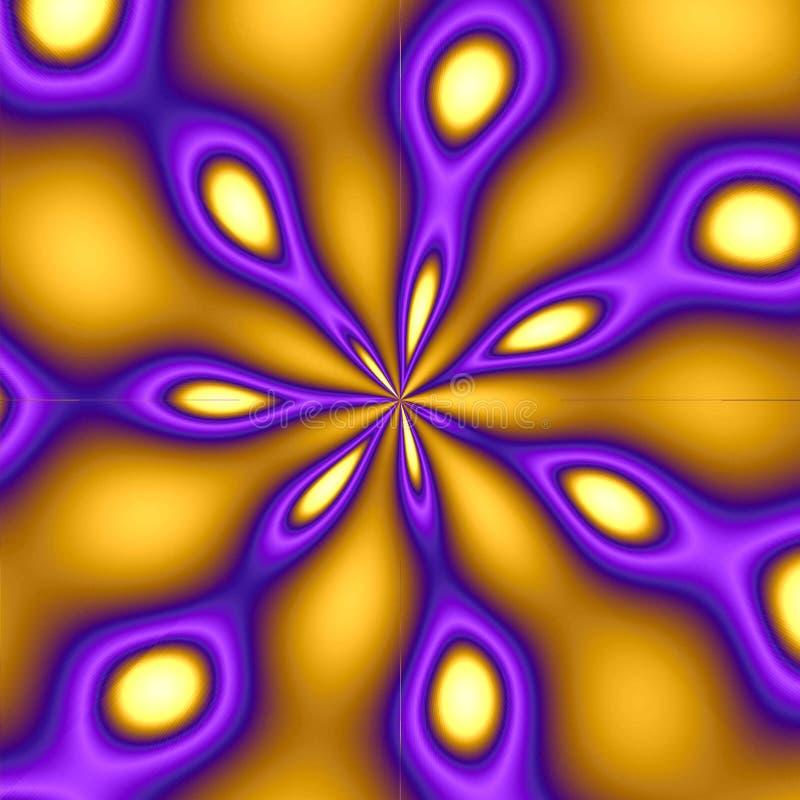 背景金孔雀紫色 库存例证