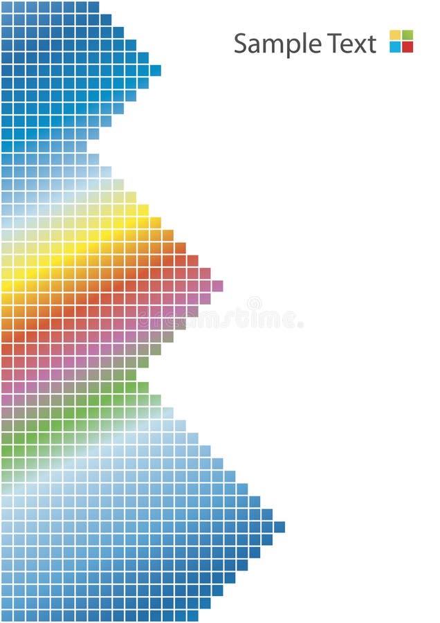 背景金字塔彩虹白色 库存例证