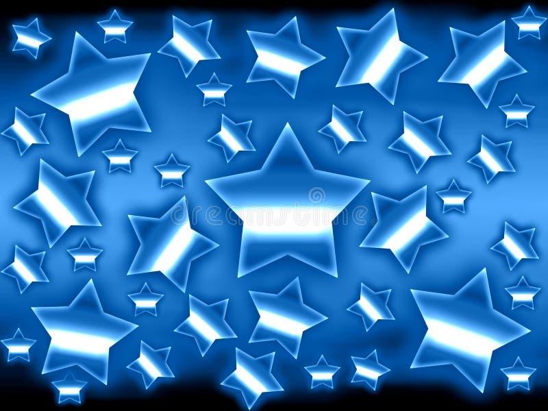 背景金属星形 库存例证