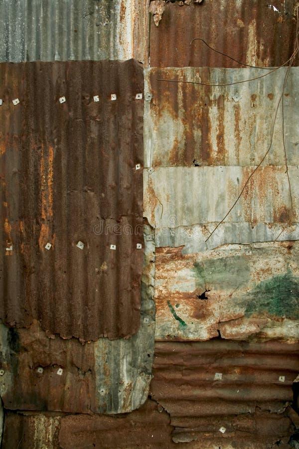 背景金属生锈的墙壁 免版税库存照片
