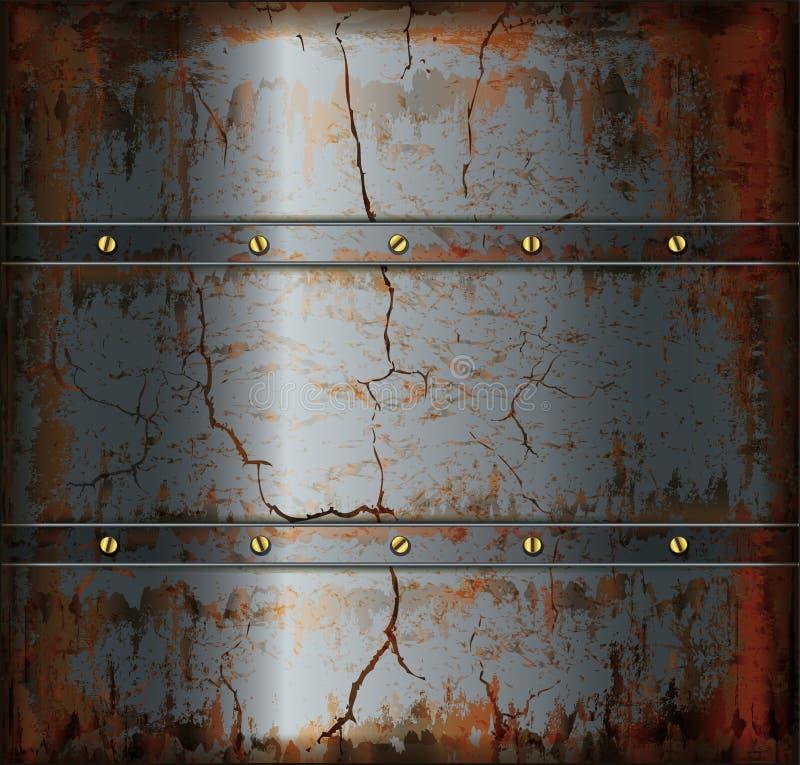 背景金属生锈的纹理 向量例证