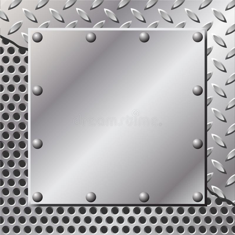 背景金属 向量例证
