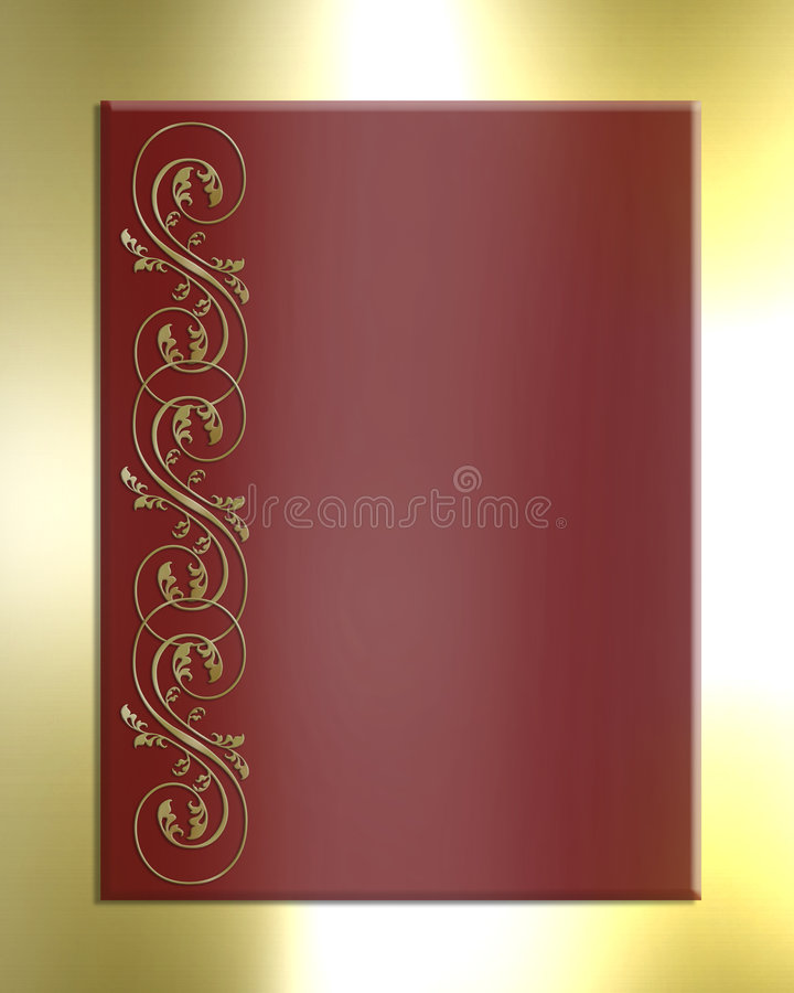 背景金红色缎模板 向量例证