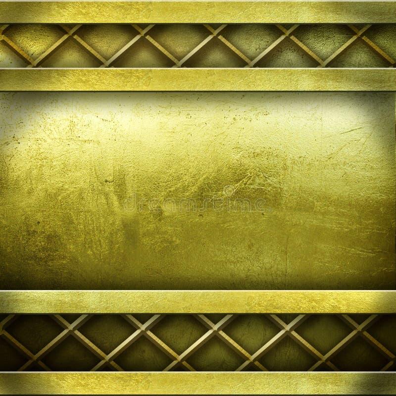 背景金黄金属片 皇族释放例证