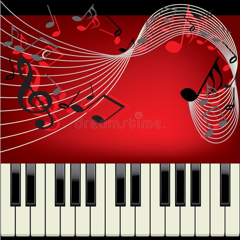 背景钢琴 库存例证