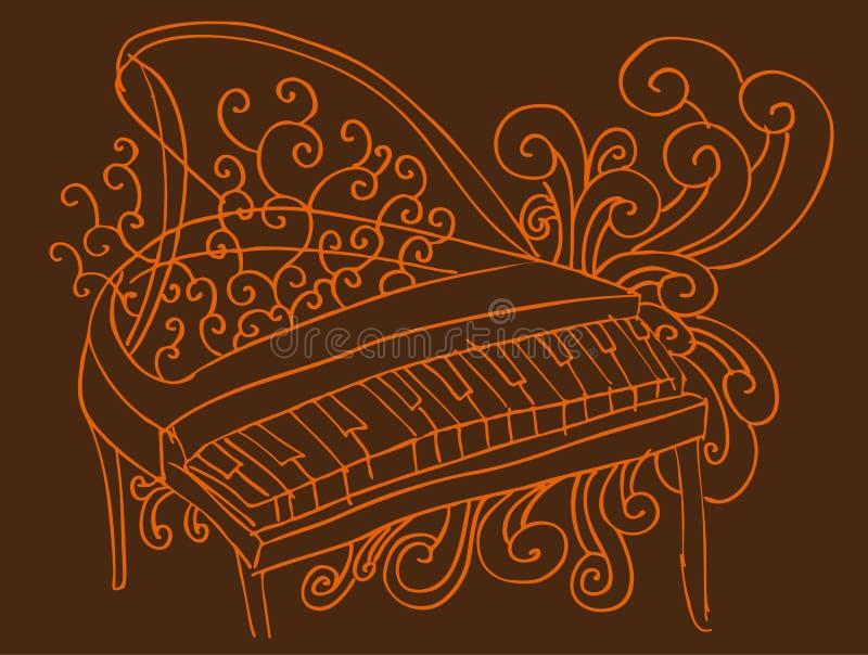 背景钢琴 向量例证