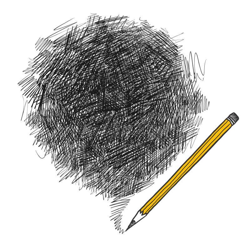 背景铅笔 向量例证