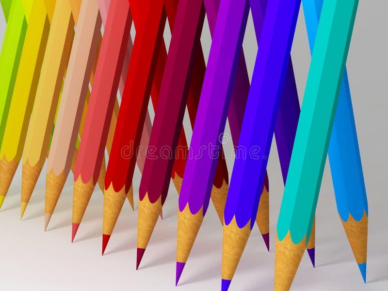 背景铅笔 库存例证
